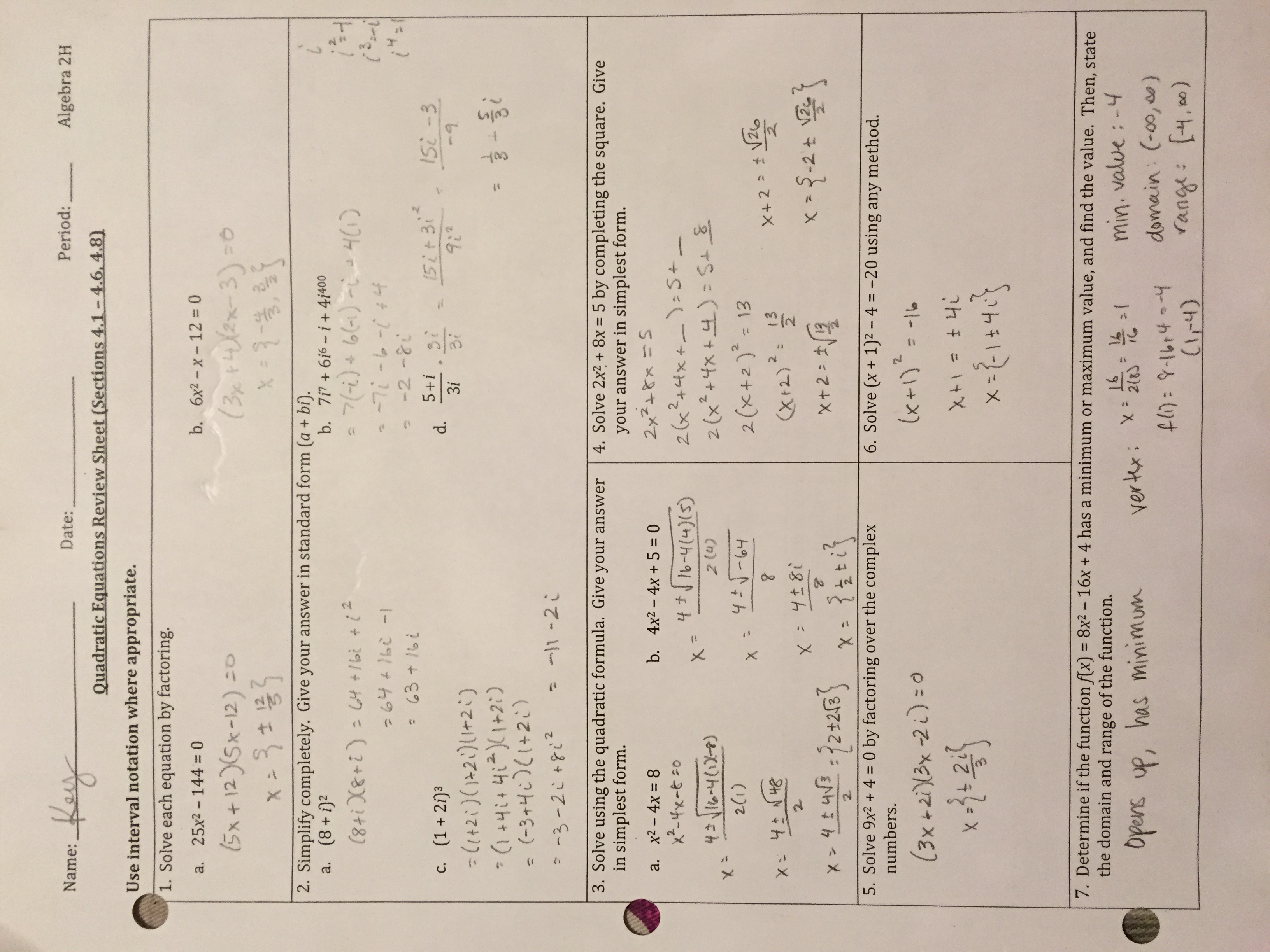 quadratics assignment 121 graphing quadratics in standard form a141 recognize the characteristic shape of the graph of a quadratic function and describe its line of symmetry, vertex, and intercepts.