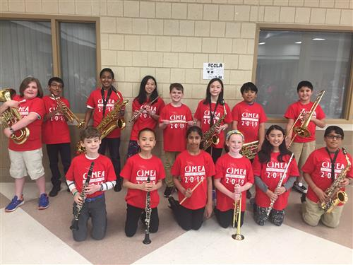 EB kids at the 2019 CJMEA Elementary Honors Band