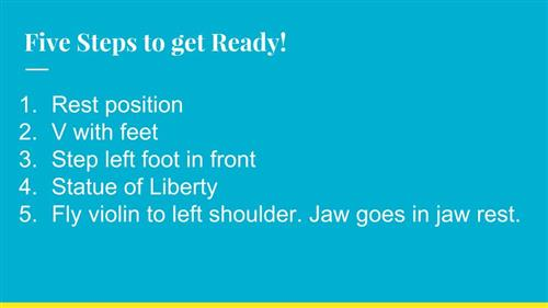Five Steps to Get Ready