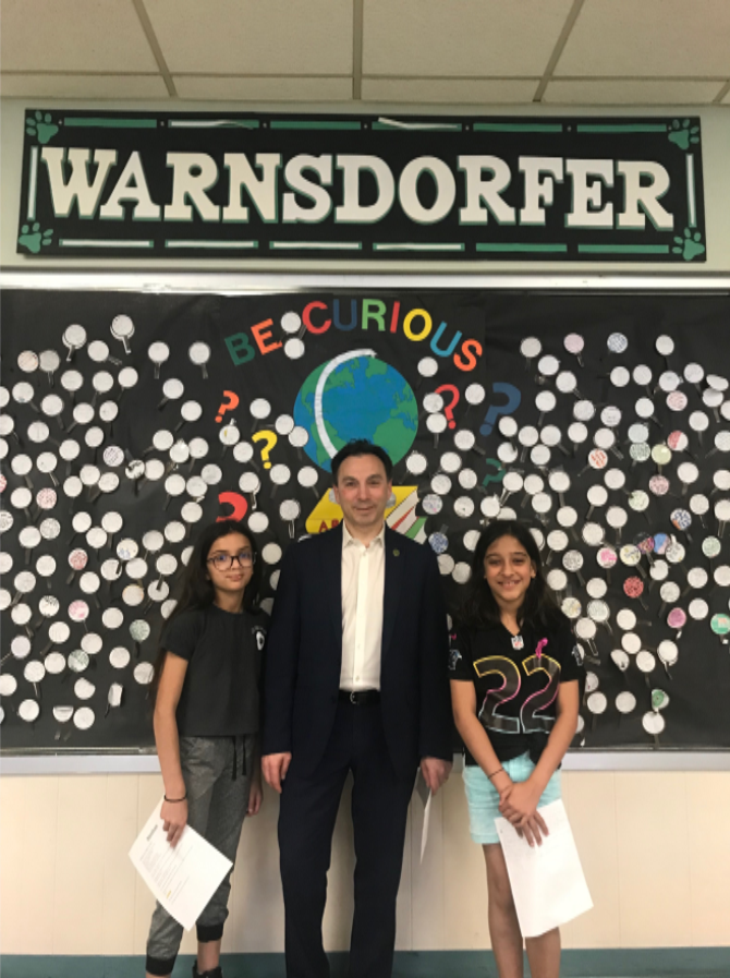 EB Mayor Mr. Brad Cohen visits Warnsdorfer