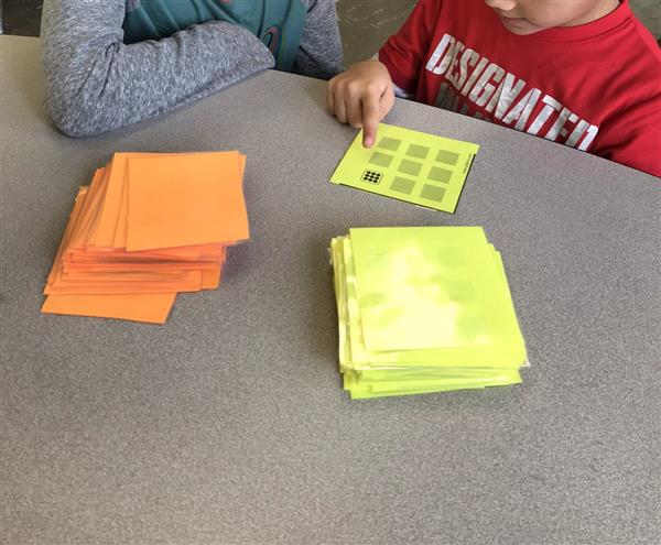 Ms. Spinato's second graders are loving the multiplication subitizing cards!