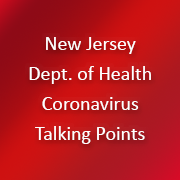 NJ Department of health coronavirus talking points