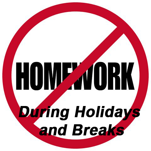 Homework Free Holidays