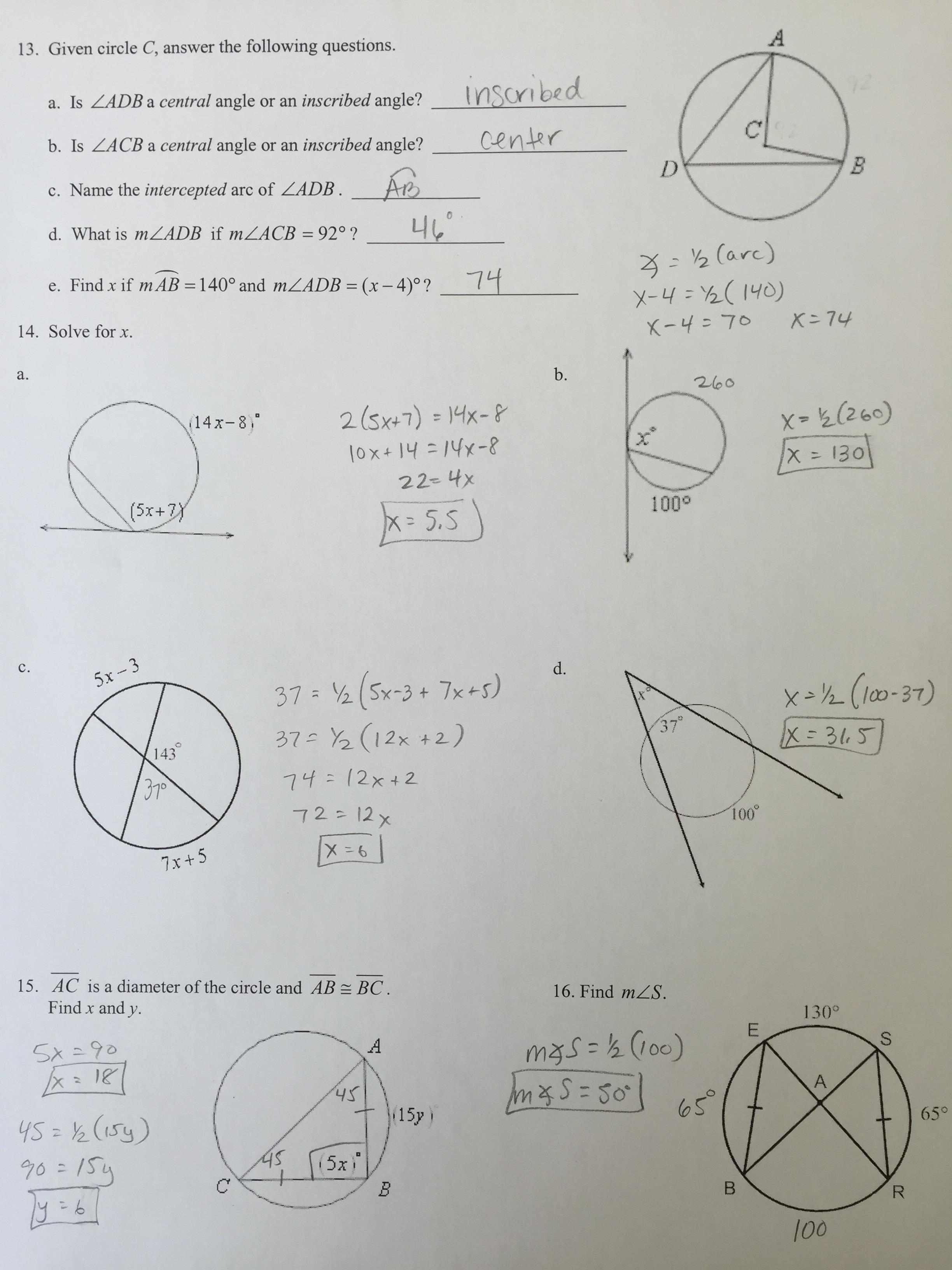 30 Geometry Circles Review Worksheet - Worksheet Resource ...